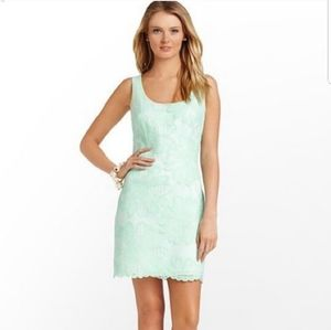 Lilly Pulitzer Mint Green Lonnie Lace Shift Dress